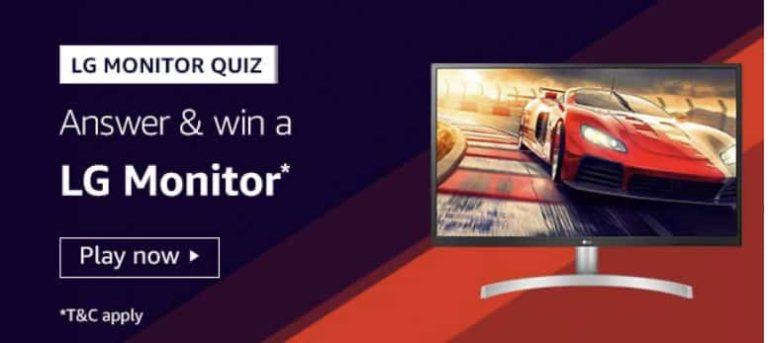 LG Monitor Quiz Win LG Monitor