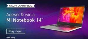 Xiaomi Laptop Quiz Win Mi Notebook 14