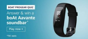 Amazon Boat Progear Quiz Answers