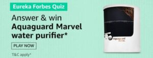 Amazon Eureka Forbes Quiz Win Purifier