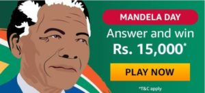 Amazon Mandela Day Quiz Answers