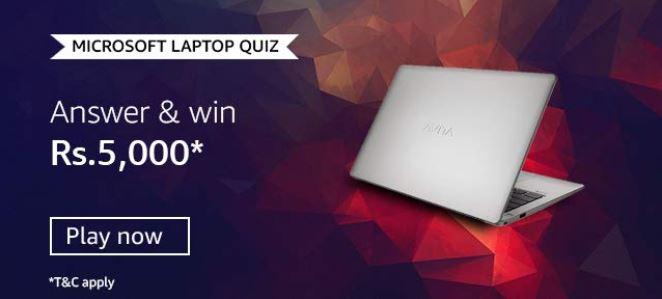 Amazon Microsoft Laptop Quiz Answers