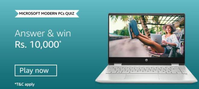 Amazon Microsoft Modern PCs Quiz Answers