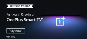 Amazon OnePlus TV Quiz