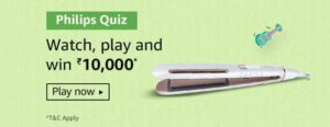 Amazon Philips Quiz Answers Win Rs 10000