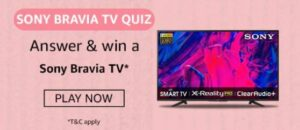 Amazon Sony Bravia TV Quiz Answers Win Bravia TV