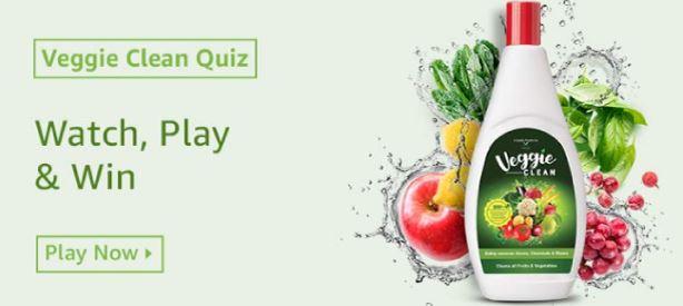 Amazon Veggie Clean Quiz Answers Win Rs 10000