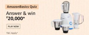AmazonBasics Quiz Answers Win Rs 20000
