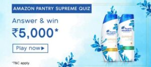 Amazon Pantry Supreme Quiz Answers