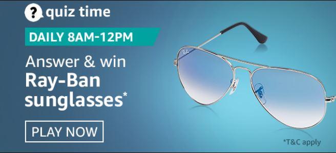 Amazon Quiz Ray Ban Sunglasses Answers Today