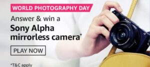 Amazon World Photography Day Quiz Answers