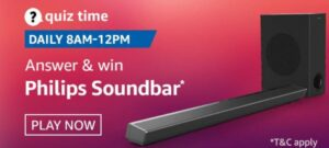Amazon Quiz Philips Soundbar Answers
