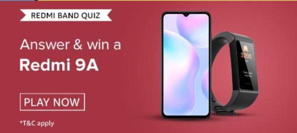 Amazon Redmi 9A Quiz Answers