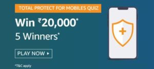 Amazon Total Protect For Mobiles Quiz Answers