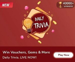 Flipkart Daily Trivia Quiz Answers Today