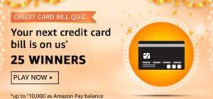 Amazon Credit Card Bill Quiz Answers