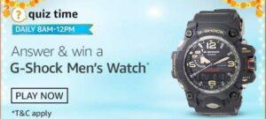 Amazon GShock Men Watch Quiz Answers