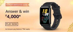 Amazon Honor Watch ES Quiz Answers