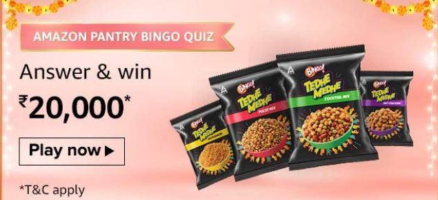 Amazon Pantry Bango Quiz Answers