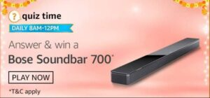 Amazon Quiz Bose Soundbar 700 Answers