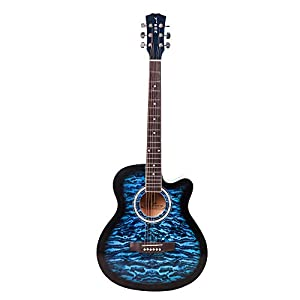 ARCTIC Vigor Acoustic Guitar package with 40 inches Folk steel string Guitar Curved shape with Bag AllTrickz.jpg