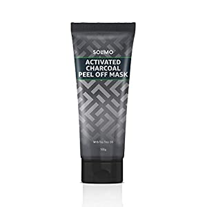 Amazon Brand - Solimo Acne Control Charcoal Peel-off Face Mask 100g AllTrickz.jpg