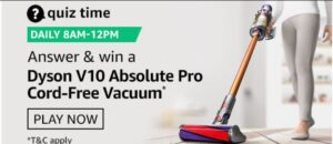 Amazon Quiz Dyson V10 Vacuum