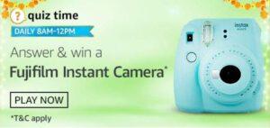 Amazon Quiz Fujifilm Instant Camera Answers