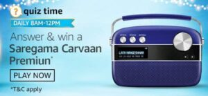 Amazon Quiz Saregama Carvaan Premium Answers