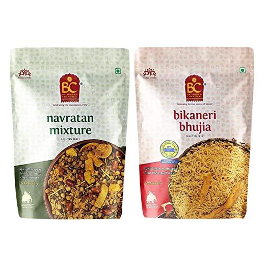 Bhikharam Chandmal Navratan Mixture 1kg & Bhujiya 1kg Combo Pack AllTrickz.jpg