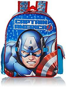 Captain America Polyester 28 cms Blue School Backpack (MBE WDP1469) AllTrickz.jpg