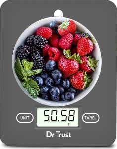 Dr. Trust (USA) Model 517 Electronic Digital LCD Kitchen Food Accurate Weight Machine for Measuring Fruits Spice Food Vegetable Water Milk Liquids Weighing Scale(Grey) AllTrickz.jpg