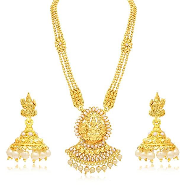 Sukkhi Jewellery Sets for Women (Golden) (3190NGLDPP1400) AllTrickz.jpg