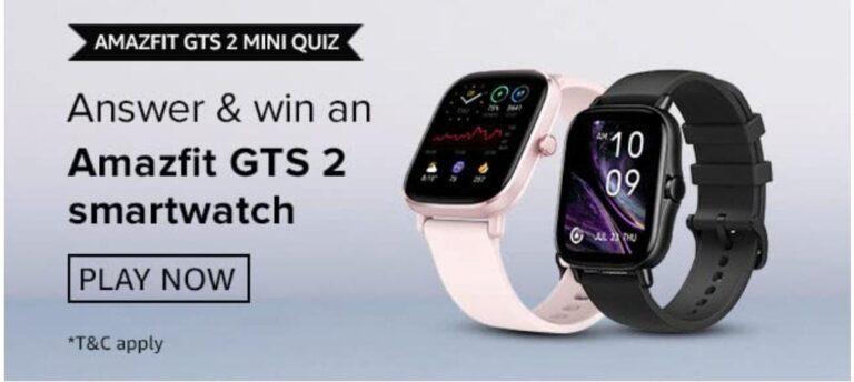 Amazon-Amazfit-GTS-2-Mini-Quiz-Answers