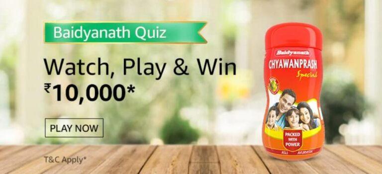 Amazon-Baidyanath-quiz-answers