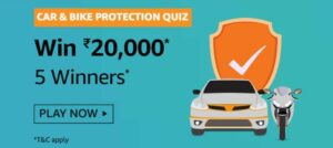 Amazon Car and Bike Protection Quiz Answers