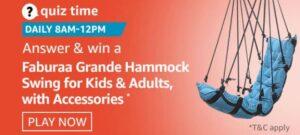 Amazon Faburaa Grande Hammock Swing Quiz Win