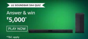 Amazon-LG-Soundbar-SN4-Quiz-Answers