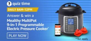 Amazon Quiz Mealthy MultiPot Pressure Cooker Answers