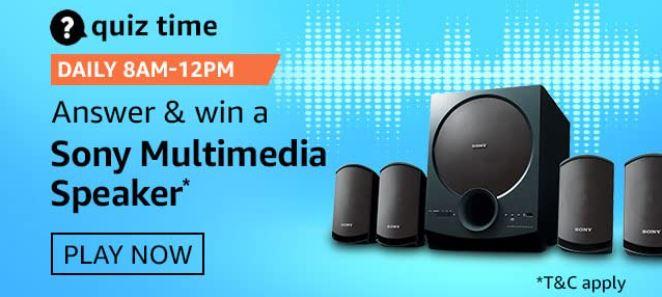 Amazon Sony Multimedia Speaker Quiz Answers