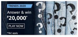 Amazon Trends 2020 Quiz Answers Win