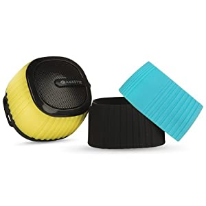 Amkette Trubeats Pixie Portable Mini Bluetooth Speaker with Mic and Multi Color Swappable Silicone Sleeves  Black  AllTrickz.jpg