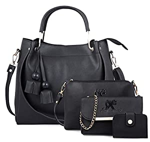Speed X Fashion Women Sling Bag   Handbag With Combo Black  Set of 4  AllTrickz.jpg