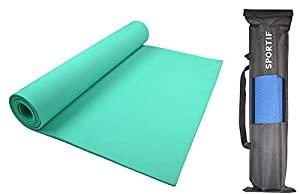 Sportif Non Slip Yoga Mat with Carry Bag for Home AllTrickz.jpg