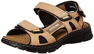 Woodland Mens Paris Khaki Leather Outdoor Sandals 7 UK  41 EU   8 US   GD 3253119  AllTrickz.jpg