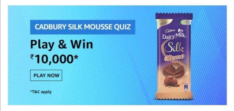 Amazon-Cadbury-Silk-Mousse-Quiz-Answers