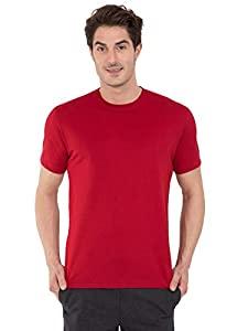 Jockey Mens Cotton T Shirt  8901326103876_2714_S_Shanghai Red  AllTrickz.jpg