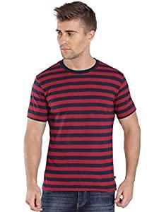 Jockey Mens Regular Fit T Shirt  8901326133989_2715_Medium_Navy   Shanghai Red  AllTrickz.jpg