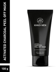 Khadi Men Activated Charcoal Peel off Mask with Green tea   Orange Peel Extract 100 ml  AllTrickz.jpg