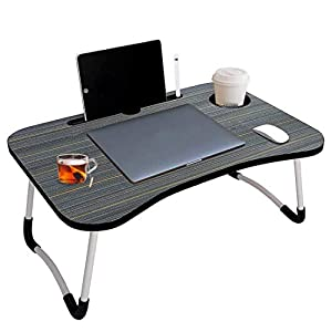 RUDRA ZONE Presents Foldable Laptop Table with Cup Holder AllTrickz.jpg